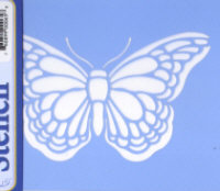 American Traditional Blue Laser Stencil - Butterfly