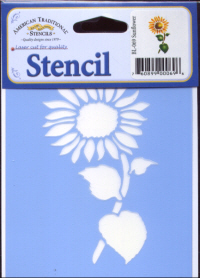 American Traditional Blue Laser Stencil - Sunflower