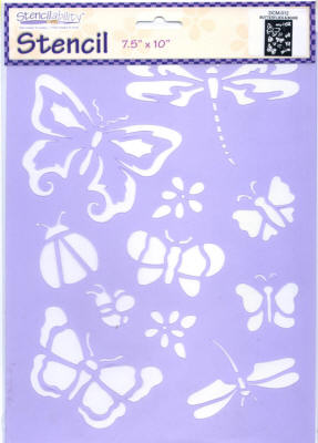 American Traditional Stencil - Butterflies & Bugs