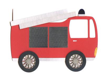 Fire Engine Shaped Card