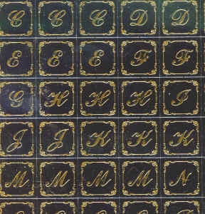 Kanban Toppers - Filigree Letters (Single Sheet)