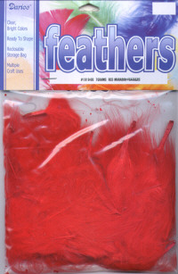 Marabou Feathers - Red
