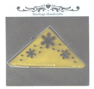 Heritage Handcrafts Snowflake Corner Brass Embossing Stencil