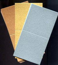 Single Fold Card Blanks - Mini - Pearlescent Metallics