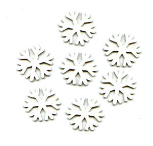 BAY6 Chipboard Inchies - Snowflakes