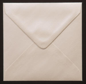 Square envelopes - Oyster White - Pearlescent