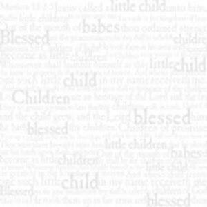 Karen Foster - Baby Blessing Words