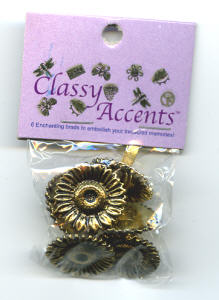 Classy Accents Brads - Sunflower Gold