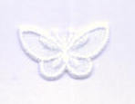 Iron on Motif - Butterfly Small - White