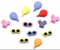 Mini flat back Kids Theme Buttons