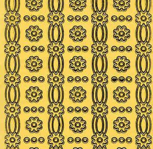 Lemon/Cream Lace Borders Flowers Peel Off Stickers