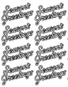 Season's Greetings Peel Off Stickers