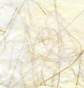 Spider Web/Angel Hair - Cream with Gold threads