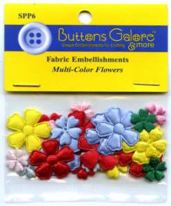 Fabric Flowers - Multicolour