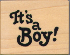 PSX Rubber Stamp - It's A Boy