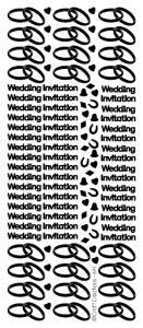 Peel Off Stickers - Tiny Wedding Invitation