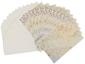 Hot Off The Press Card Blanks - Lace
