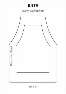 BAY6 Shaped Card Template - Apron