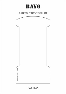 BAY6 Shaped Card Template - Postbox