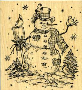 Northwoods Rubber Stamp - Snowman