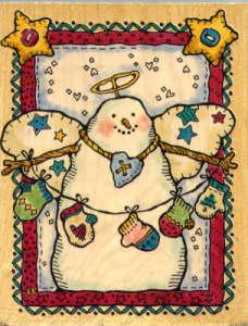 Penny Black Angel Snowman