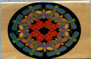 Westwater Rubber Stamp - Dragonfly Kaleidoscope