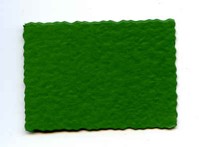 Deckle Edge Rectangles - Green Hammered