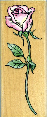 Stampendous Single Rose Rubber Stamp