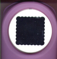 Medium Button Punch - Scalloped Square