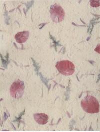 Patterned Vellum - Naturals Pink Rose