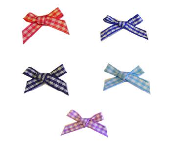 Gingham Ribbon Bows