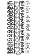 Oriental Theme Peel Off Stickers