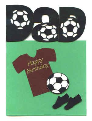 Handmade Birthday Card - Dad Football