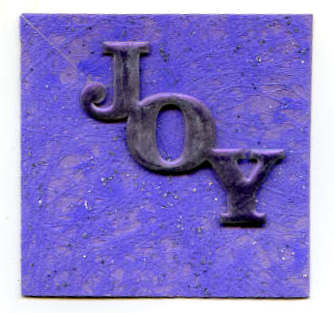 card mini shaped joy purple
