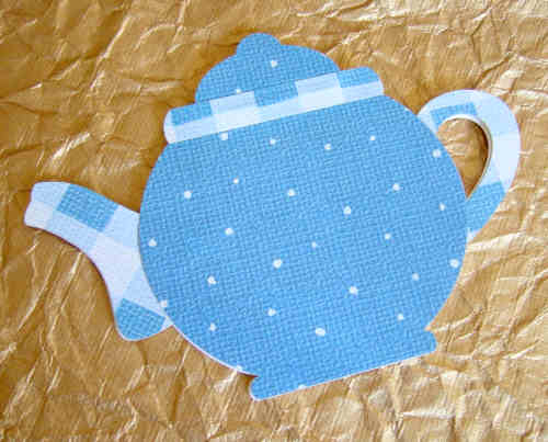 card shaped teapot dec