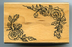Rubber Stamp - Rose Corners