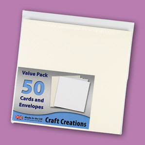 Single Fold Card Blanks - Value Pack (50) - DL Textured