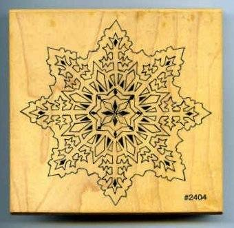 Co-Motion Snowflake Rubber Stamp