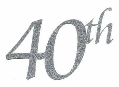 Light Arted Designs Laser Cut 40th Embellishment