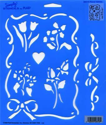 Plaid Floral Variety Wall/Craft Stencil