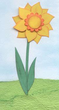 Handmade Card - Dimensional Daffodil