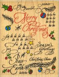 Rubber Stampede Christmas Background Rubber Stamp