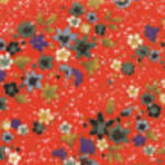 Patterned Paper Red Floral