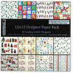 "Dovecraft Paper Pack 12"" Contemporary Christmas"