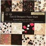 "Dovecraft Paper Pack 12"" Kate Knight Hint of Pink"