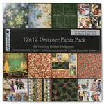 "Dovecraft Paper Pack 12"" Victorian Christmas"