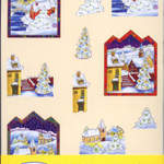 Donna's 3D Decoupage Kit Christmas Landscape