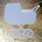 Pram shaped card blank