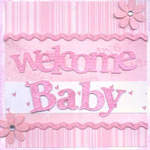 Card Welcome Baby Pink