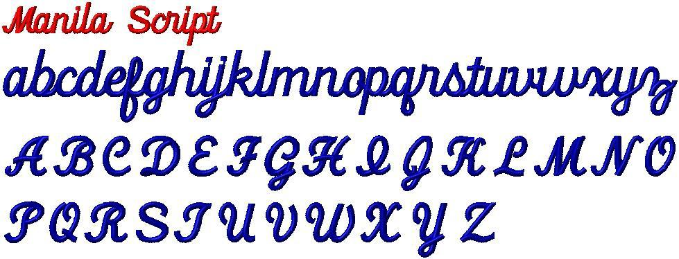 manila script